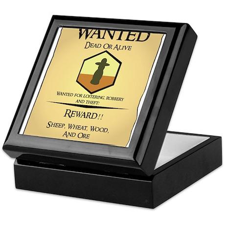 Catan Wanted Poster Keepsake Box
