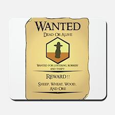 Catan Wanted Poster Mousepad