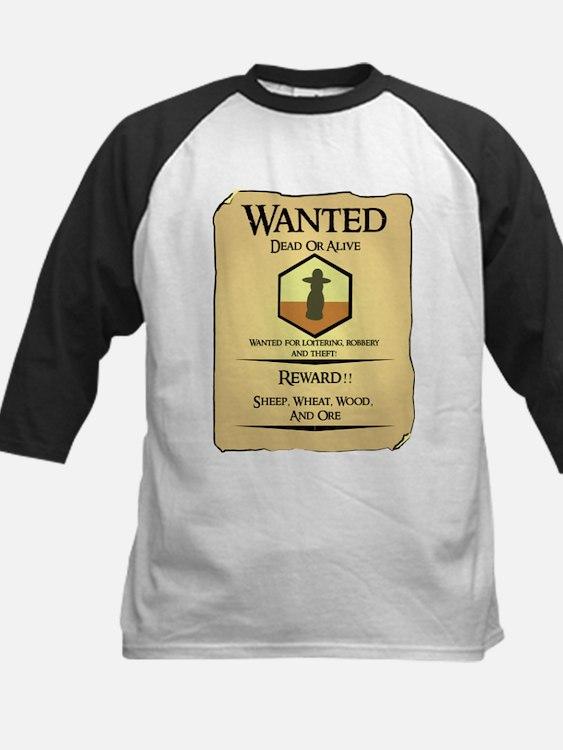 Catan Wanted Poster Kids Baseball Jersey