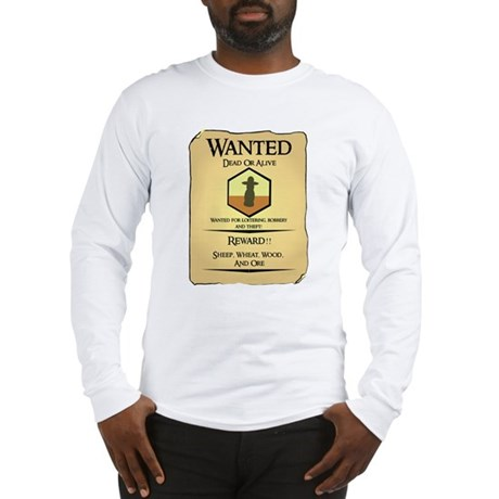 Catan Wanted Poster Long Sleeve T-Shirt