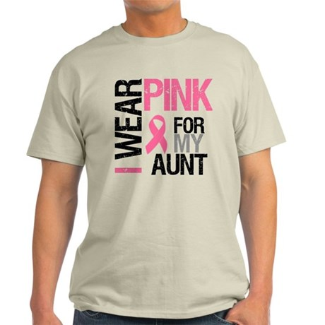 I Wear Pink (Aunt) Light T-Shirt