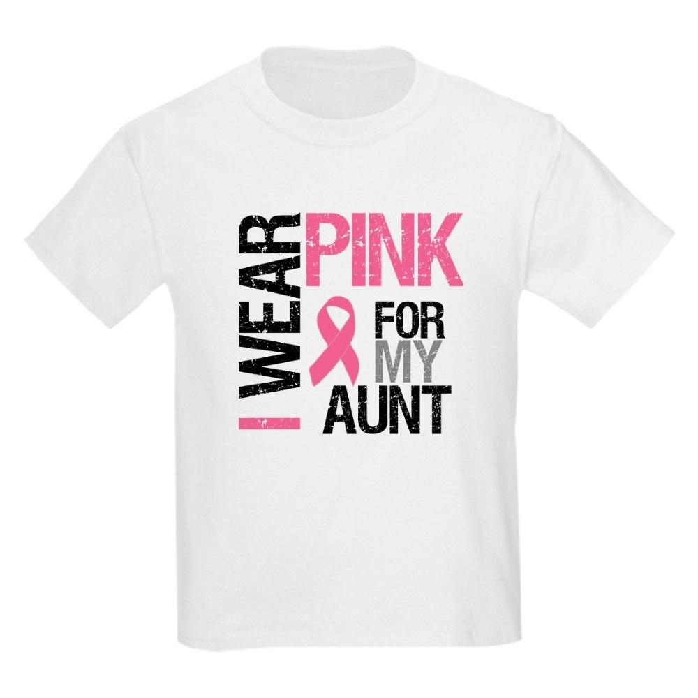 CafePress I Wear Pink (Aunt) T-Shirt