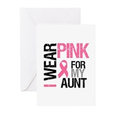 I Wear Pink (Aunt) Greeting Cards (Pk of 10)