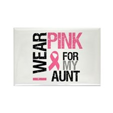 I Wear Pink (Aunt) Rectangle Magnet (10 pack)