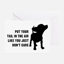 Put Tail in Air Greeting Card