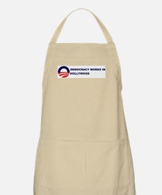 Democracy Works in HOLLYWOOD BBQ Apron