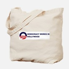Democracy Works in HOLLYWOOD Tote Bag
