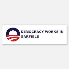 Democracy Works in GARFIELD Bumper Bumper Bumper Sticker