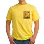 WOE Peach Laced Yellow T-Shirt
