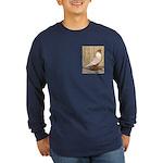 WOE Peach Laced Long Sleeve Dark T-Shirt