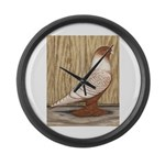 WOE Peach Laced Large Wall Clock