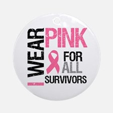 I Wear Pink (Survivors) Ornament (Round)