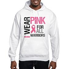 I Wear Pink Warriors Jumper Hoody