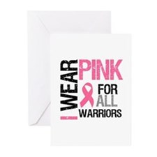 I Wear Pink Warriors Greeting Cards (Pk of 10)