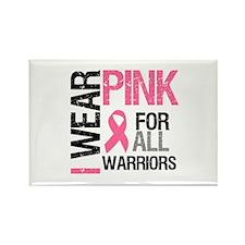 I Wear Pink Warriors Rectangle Magnet