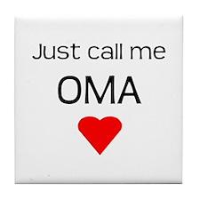 Oma's Tile Coaster