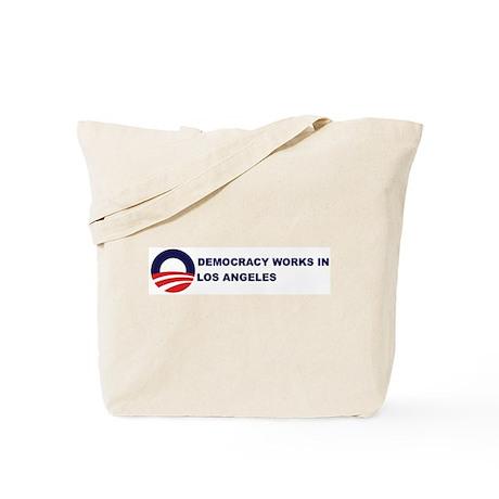 Democracy Works in LOS ANGELE Tote Bag