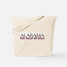 Alabama heart of dixie Tote Bag
