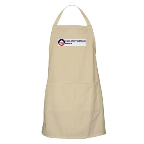 Democracy Works in LINDEN BBQ Apron