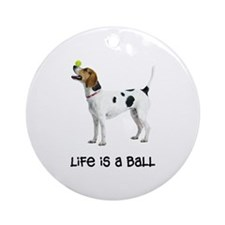 English Foxhound Life Ornament (Round)