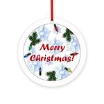 Merry Christmas Keepsake (Round Ornament)
