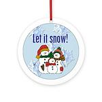 Country Snowmen Keepsake (Round Ornament)