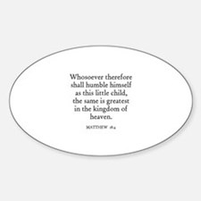MATTHEW 18:4 Oval Decal