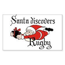 Santa Rugby Christmas Decal
