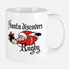 Santa Rugby Christmas Mug