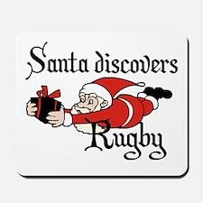 Santa Rugby Christmas Mousepad