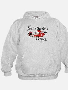 Santa Rugby Christmas Hoodie