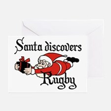 Santa Rugby Christmas Greeting Cards (Pk of 20)