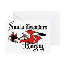 Santa Rugby Christmas Greeting Card
