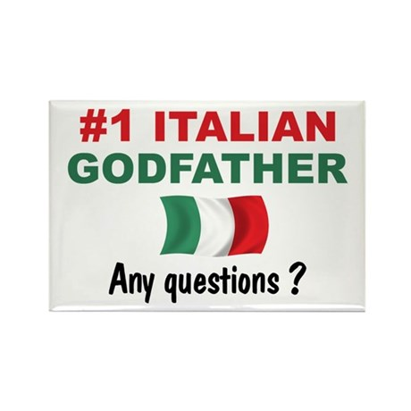#1 Italian Godfather Rectangle Magnet