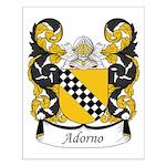 Adorno Family Crest Small Poster