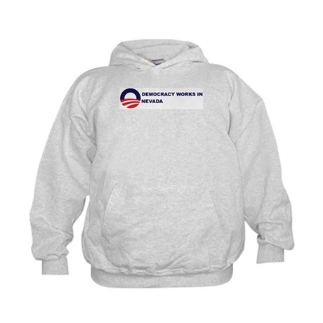 Democracy Works in NEVADA Kids Hoodie