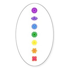 The Chakras Oval Decal