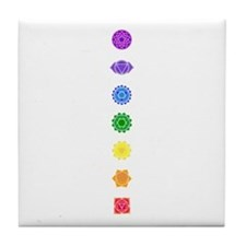 The Chakras Tile Coaster
