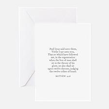 MATTHEW  19:28 Greeting Cards (Pk of 10)