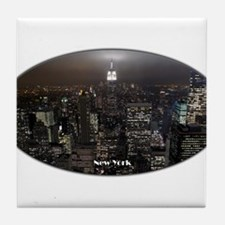 New York City Lights Empire State NYC Tile Coaster