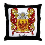 Aguilar Family Crest Throw Pillow