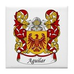 Aguilar Family Crest Tile Coaster