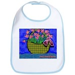 Bib flowers in basket