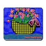 Mousepad with great flowers in basket