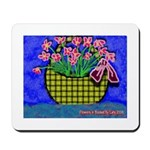 Mousepad Basket with Flowers