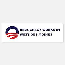 Democracy Works in WEST DES M Bumper Bumper Bumper Sticker