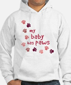 My Baby has Paws Jumper Hoody