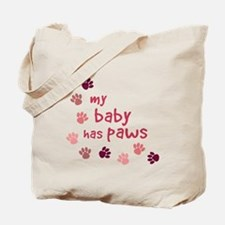 My Baby has Paws Tote Bag