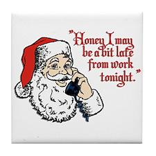 Santa and Mrs Claus Tile Coaster