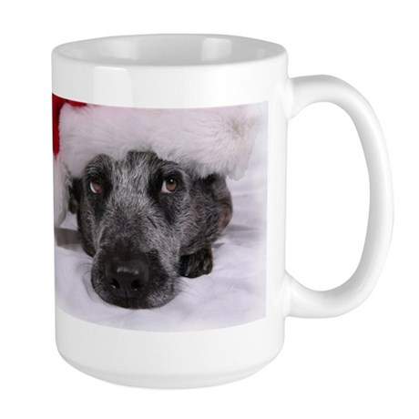 Christmas Blue Heeler Large Mug